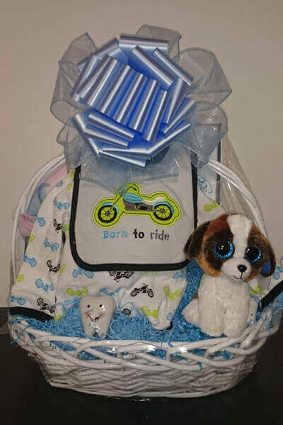 Gift baskets in long island for all occasions custom gift baskets baby boy basket negle Image collections